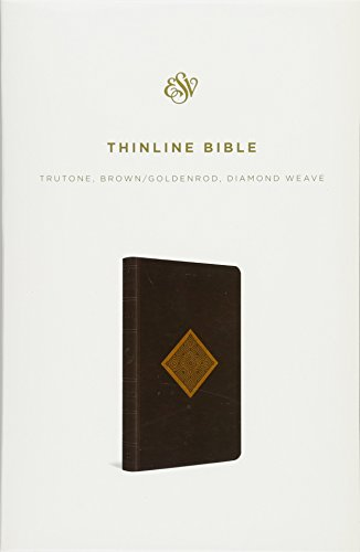 (ESV Thinline Bible (TruTone, Brown/Goldenrod, Diamond Weave Design))