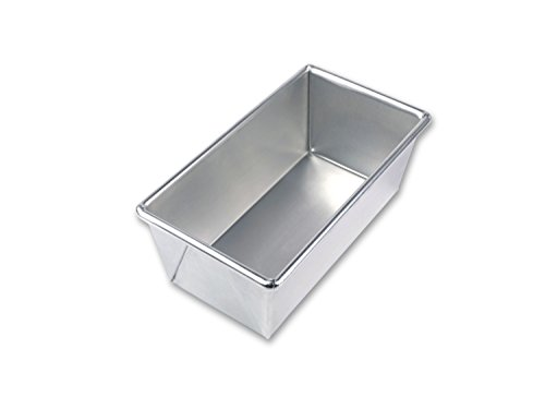 USA Pan Bare Aluminum Bakeware 1140LF-BB 1 Pound Loaf Baking Pan Warp-Resistant, Rust-Proof Bakeware (Loaf Pan Commercial)