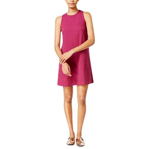 Maison Jules Womens Ponted Textured Casual Dress Purple/Cherry Plum S