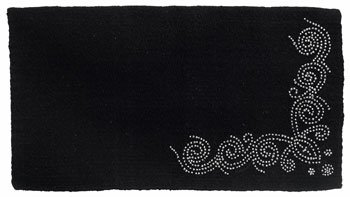 (Tough 1 Designer Dots Wool Saddle Blanket, 34