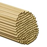 500 Pcs, 3/8'' X 48'' Birch Wood Dowels Hardwood