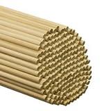 500 Pcs, 3/8'' X 12'' Wood Dowels Hardwood Birch