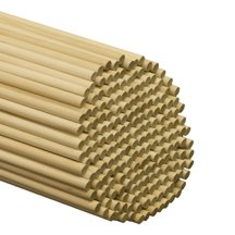 500 Pcs, 3/8'' X 48'' Birch Wood Dowels Hardwood by SNS