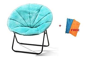 Brilliant Amazon Com Mainstay Comfortable Faux Fur Plush Folding Machost Co Dining Chair Design Ideas Machostcouk