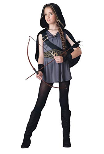 Hooded Warrior Huntress Medieval Girls Tween Costume