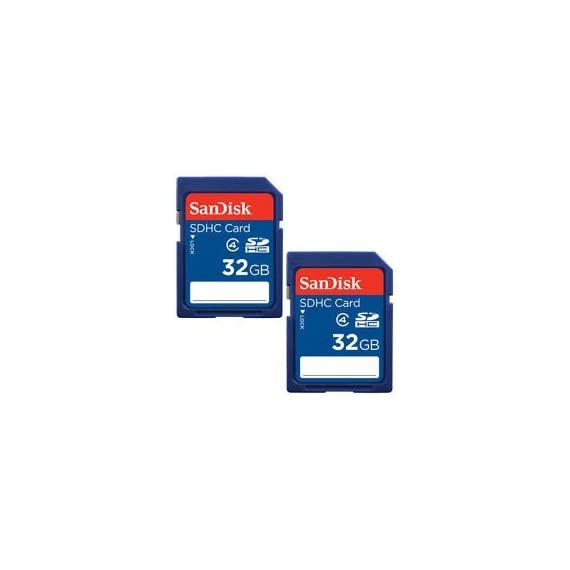 SanDisk 32GB Class 4 SDHC Flash Memory Card - 2 Pack SDSDB2L-032G-B35 Retail Package 1 Speed performance rating: Class 4 (based on SD 2.0 Specification) Compatibility: Compatible with SDHC supporting host devices Designed to withstand the toughest conditions.