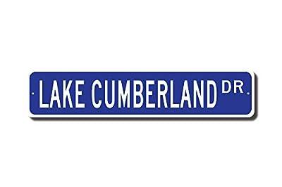Iliogine Lake Cumberland Sign Lake Cumberland Gift Lake Cumberland Visitor Kentucky Lake Street Sign Outdoor Sign Gift Funny Metal Tin Sign Wall Art Decorative