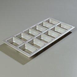 Carlisle 606903 Steeluminum Mini-Loaf Pans, Set of 6 (2 x 6-Inch, Steeluminum) (Pan Carlisle Loaf)