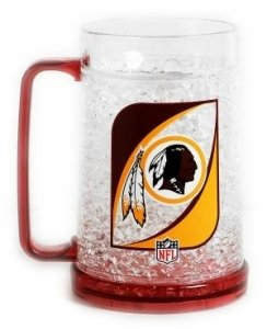 Washington Redskins Plastic Crystal Freezer Mugs - Set of 4