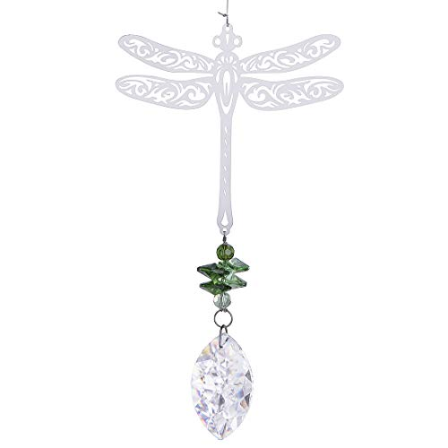 Capiz Suncatcher - H&D Window Dragonfly Pendant Crystal Suncatcher Fengshui Ornament