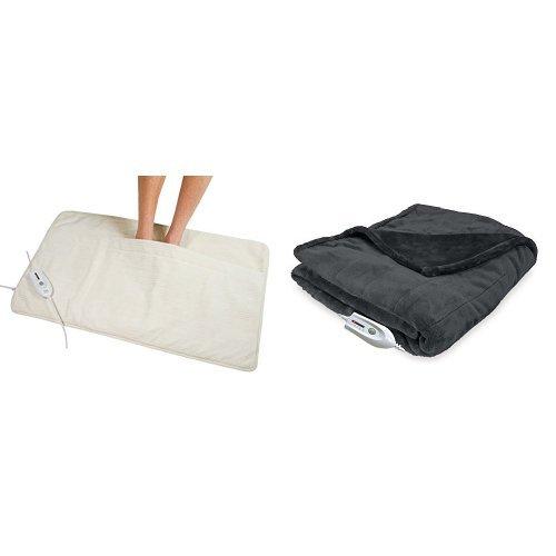 Electric Heated Foot Warmer Throw Heating Pad Bed Feet
