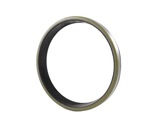 Wiper Seal 70X80X7 / 10 (10 PCS) Dust Seal GA |EAI Oil Seal with Ground Outer Metal housing 70mmX80mmX7/10mm | GA70X80X7/10 | 2.756''x3.150''x0.276'' / 0.394'' by EAI (Image #1)