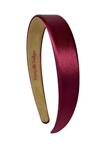 1 Inch Wide Funny Girl Designs Satin Headband (Maroon)]()