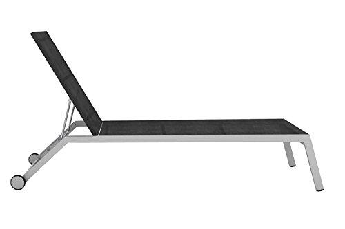OUTLFEXX Rollliege, schwarz, Edelstahl/Textilene, 204x68x99cm