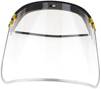 透明なヘッドマウントフルフェイスマスクシールドプロテクターホルダー高温耐性