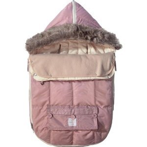 7AM Enfant ''Le Sac Igloo'' Footmuff, Converts into a Single Panel Stroller and Car Seat Cover, Rose, Large
