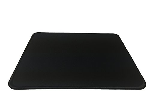 (GGing Black Small Gaming Mouse Pad, Stitched Edges, Speed Silky Smooth Surface - 10.6