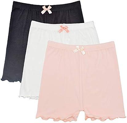 Dance Shorts Under Dress 6 Pack Girls Bike Short for Sports Black Under Skirt Shorts for Girls