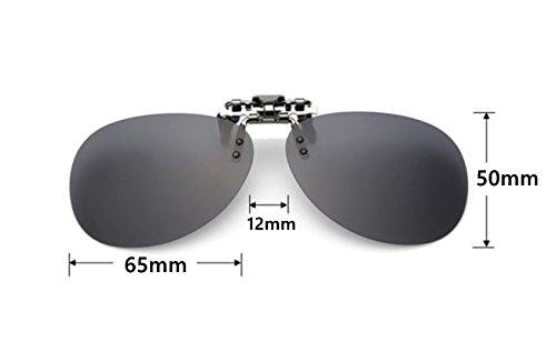 ANNA up amp; Mujer Unisex VF Polarizado GLS04 Silver Sol ELSA Mercurio Clip Hombre Las Gafas de en Flip FBWIqdn5w