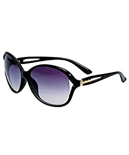 EFASHIONUP UV Protected Women's Over Sized Sunglasses - (2101|Black and White)