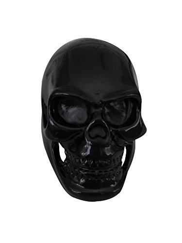 Hematite Stainless Steel Ring (Holdwell Men's Vintage Well Polished Stainless Steel Skull Ring, Black)