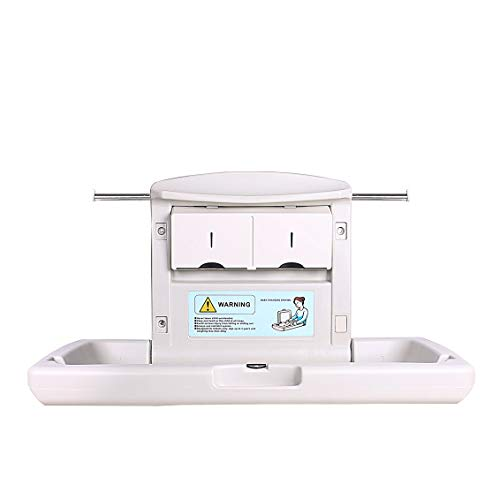 Horizontal Changing Table (AB Baby Changing Station, Horizontal Wall Mounted, with Dual Liner Dispensers for 13