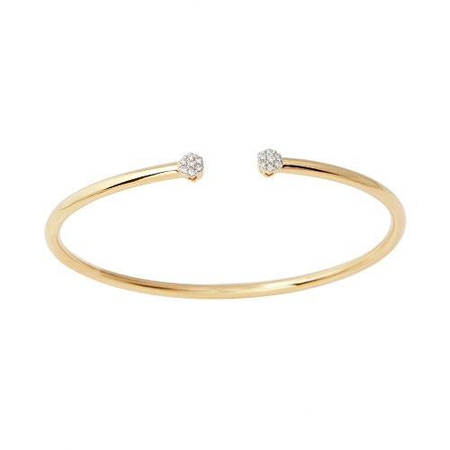 Flexible Cuff Diamond Cluster Bangle (yellow-gold) - Diamond Cluster Bangle Bracelet
