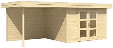Caseta de madera para jardín, Chatel 5, con espacio para asiento: Amazon.es: Jardín