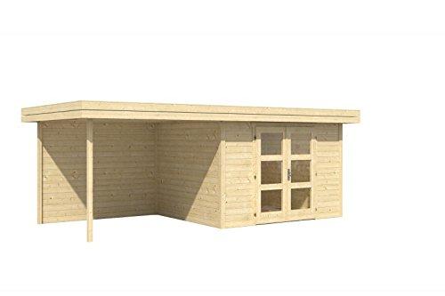 Holz Blech Gartenhaus Chatel 5 mit Freisitz: Amazon.de: Garten