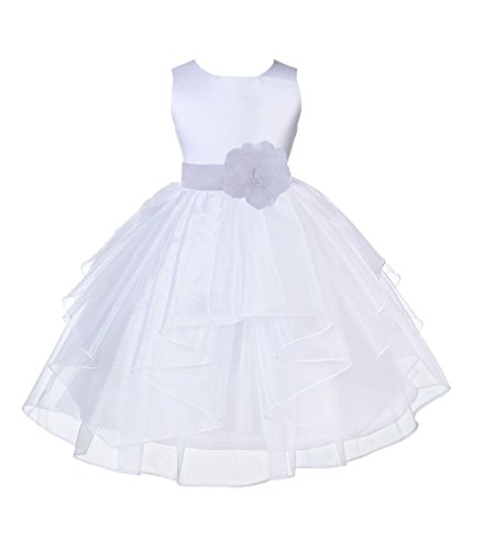 ekidsbridal Organza White Flower Girl Dresses Baptism Dress Pageant Dresses 4613s 8