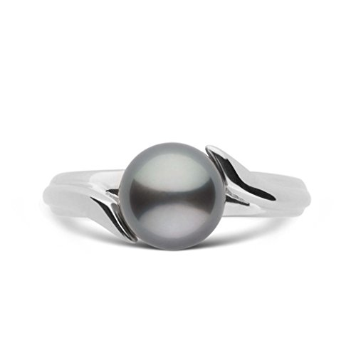 Ribbon Collection Tahitian Cultured Pearl Ring - Sterling Silver - Ring Size 5