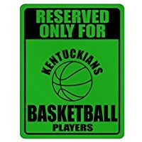 Reserved only for Kentucky Basketball Players - Usa States - Parking Sign [ Decorative Novelty Sign Wall Plaque ]