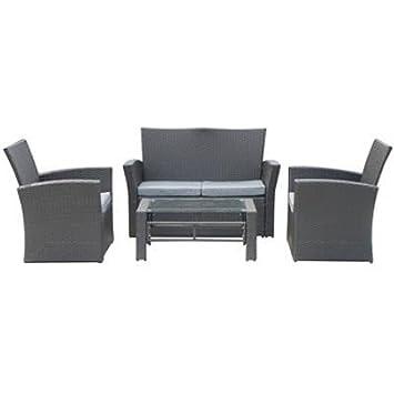 Vamundo Lujo Jardín Lounge Set - Sofá + Mesa + 2 sillones ...