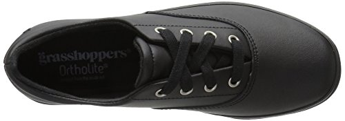 Grasshoppers Damen Janey II Fashion Sneaker Schwarzes Leder