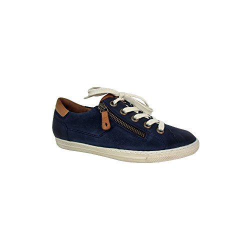 Zip with Leather 4128 Navy Trainer q6tWf