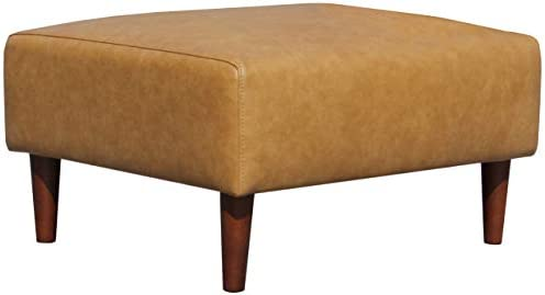 Amazon Brand Rivet Ava Mid-Century Modern Leather Ottoman