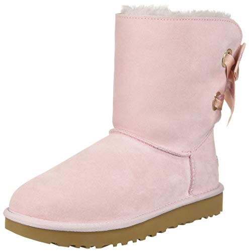 UGG Women's W CUSTOMIZABLE BAILEY BOW SHORT Fashion Boot, seashell pink, 10 M US (Pink Bows Uggs)