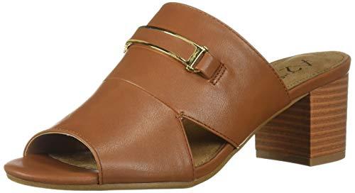 Aerosoles A2 Women's MID AIR Heeled Sandal, Dark Tan, 9 M US