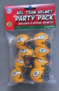 Green Bay Packers NFL Party Pack Football Helmets