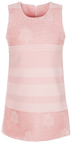 Lilax Girls Sleeveless Stripe Sparkle Holiday Toddler Dress 5 Pink