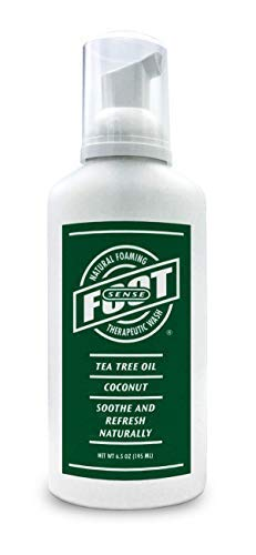 Tea Tree Oil Foaming Therapeutic Body and Foot Wash - Lavender, Peppermint, Eucalyptus, Rosemary - Promotes Healthy Skin, Feet and Nails - Fights Body Odor, Ringworm, Excema, Jock Itch, Athlete's Foot (Home Remedies For Sweaty Palms And Feet)