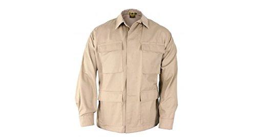 Propper Men's Bdu Coat - 65/35 Ripstop, Khaki, Large Regular ()