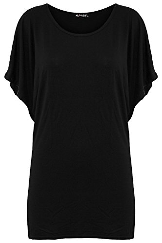 Be Jealous Womens Ladies Casual Batwing Sleeve Ruched Round Neck Oversize Baggy T Shirt Top - Jealous Girls T-shirt