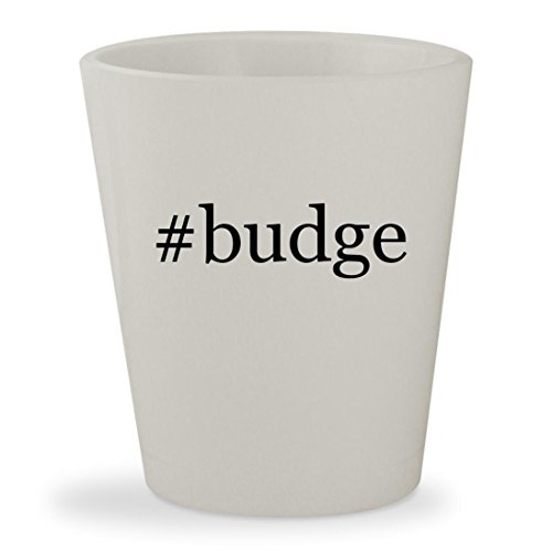 #budge - White Hashtag Ceramic 1.5oz Shot Glass (Ea Gam)