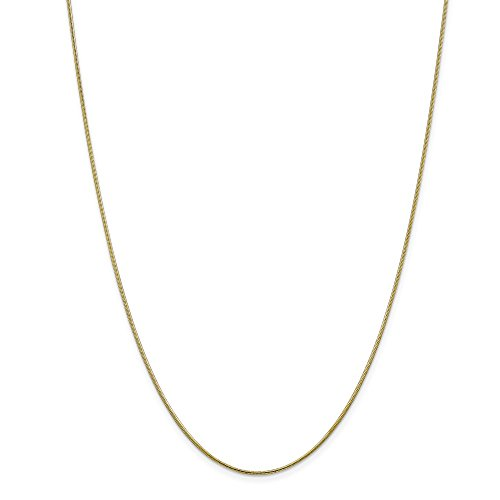 - 10k Yellow Gold 1.1mm Round Snake Chain Necklace 20inch