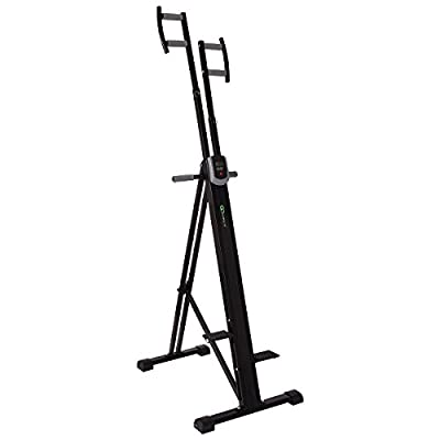 Goplus Foldable Vertical Climber Fitness Climbing Machine Exercise Stepper Cardio Workout Fitness