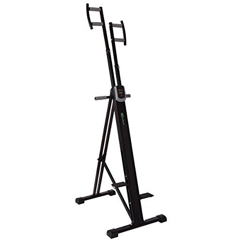 Goplus Vertical Climber Exercise Climbing Machine Folding Step Climber Exercise Machine by Goplus