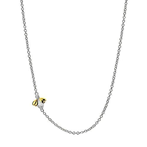 Necklace for Girls - Sterling Silver & 9ct Gold Vermeil Honey Bee Pendant & Lobster Claw Clasp - Best for Occasional Gift Arrives with Luxury Jewelry - Pendant Gold 9k