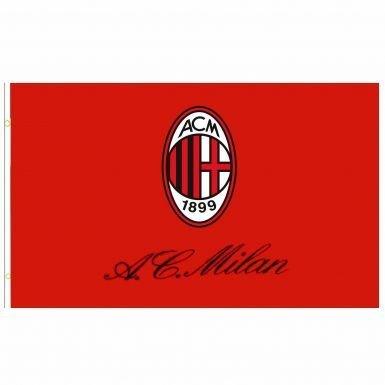 Ac Milan Flag - AC Milan Giant Crest Flag (5ft x 3ft)