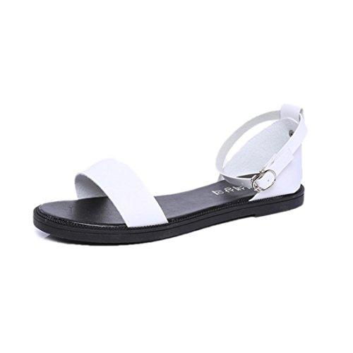 ecurson-summer-sandals-flat-fashion-sandals-comfy-ladies-shoes-us6ru-eu-cn37-white